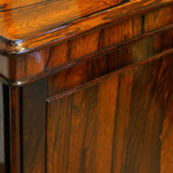 William IV rosewood small one door side cabinet top moulding