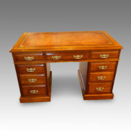 Edwardian Maple & co walnut pedestal desk
