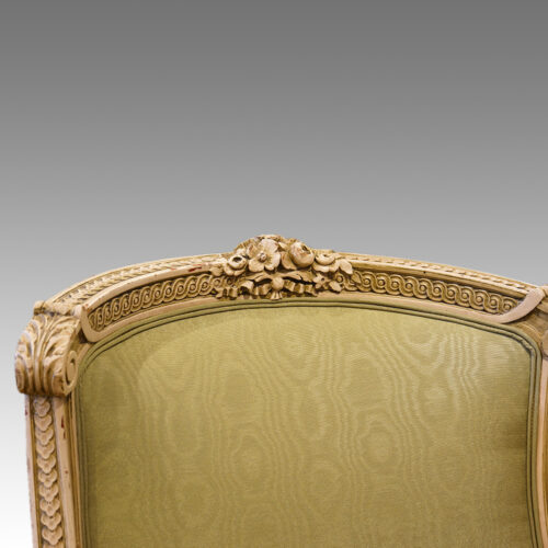 French decorated salon chair toprail