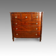 Regency inlaid mahogany D shape chest of drawers