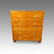 Victorian camphorwood brass bound campaign chest