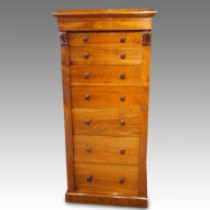 Victorian walnut secretaire Wellington chest