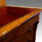 Victorian walnut secretaire Wellington chest lock