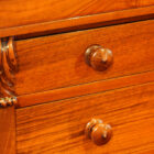 Victorian walnut secretaire Wellington chest turned knob