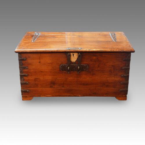 Antique Colonial valuables chest