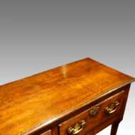 Antique oak and elm dresser base top