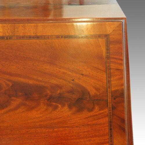 Edwardian mahogany bureau banding