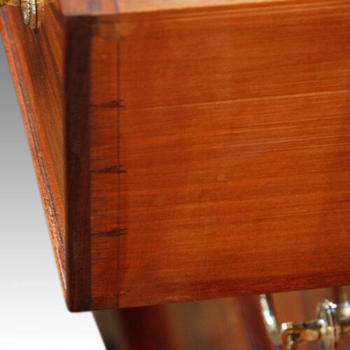 Edwardian mahogany bureau dove tails