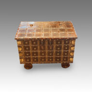 Small Indian iron bound marriage chest