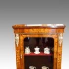 Victorian floral inlaid pier cabinet detail