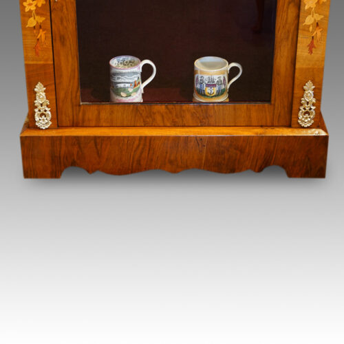 Victorian floral inlaid pier cabinet gilt mounts