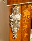 Victorian floral inlaid pier cabinet mount detail