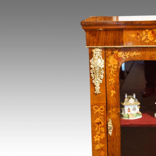 Victorian floral inlaid pier cabinet mounts