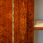 Victorian inlaid burr walnut credenza decorative inlay