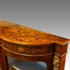 Victorian inlaid burr walnut credenza end moulding