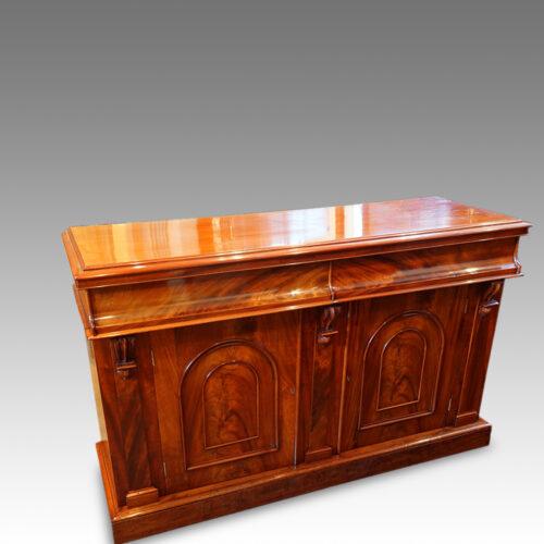 Victorian mahogany chiffonier sideboard detail