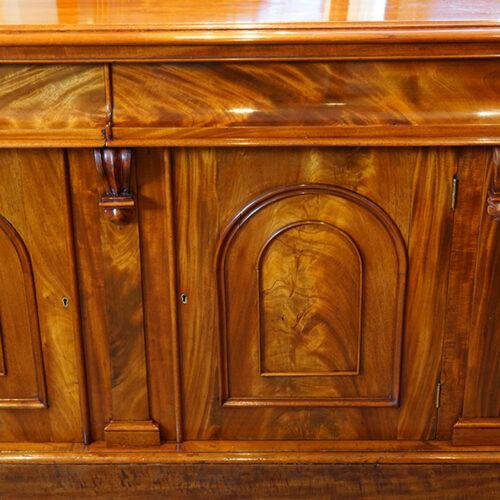 Victorian mahogany chiffonier sideboard door