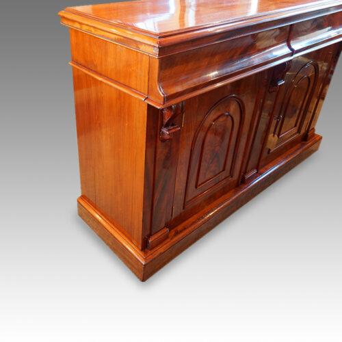 Victorian mahogany chiffonier sideboard side view