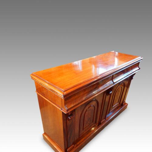 Victorian mahogany chiffonier sideboard top