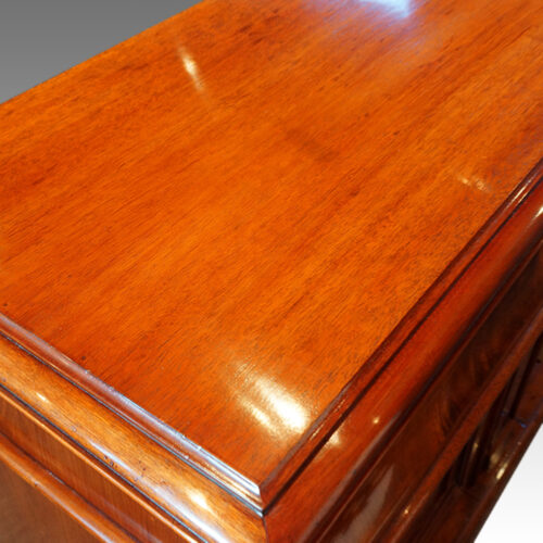 Victorian mahogany chiffonier sideboard top detail