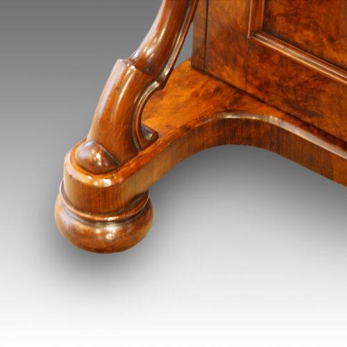 Victorian walnut Davenport with side door foot