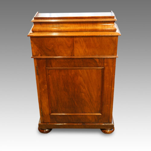 Victorian walnut Davenport with side door rear