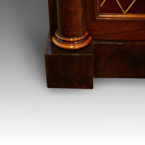 William IV rosewood side cabinet with one drawer plinth