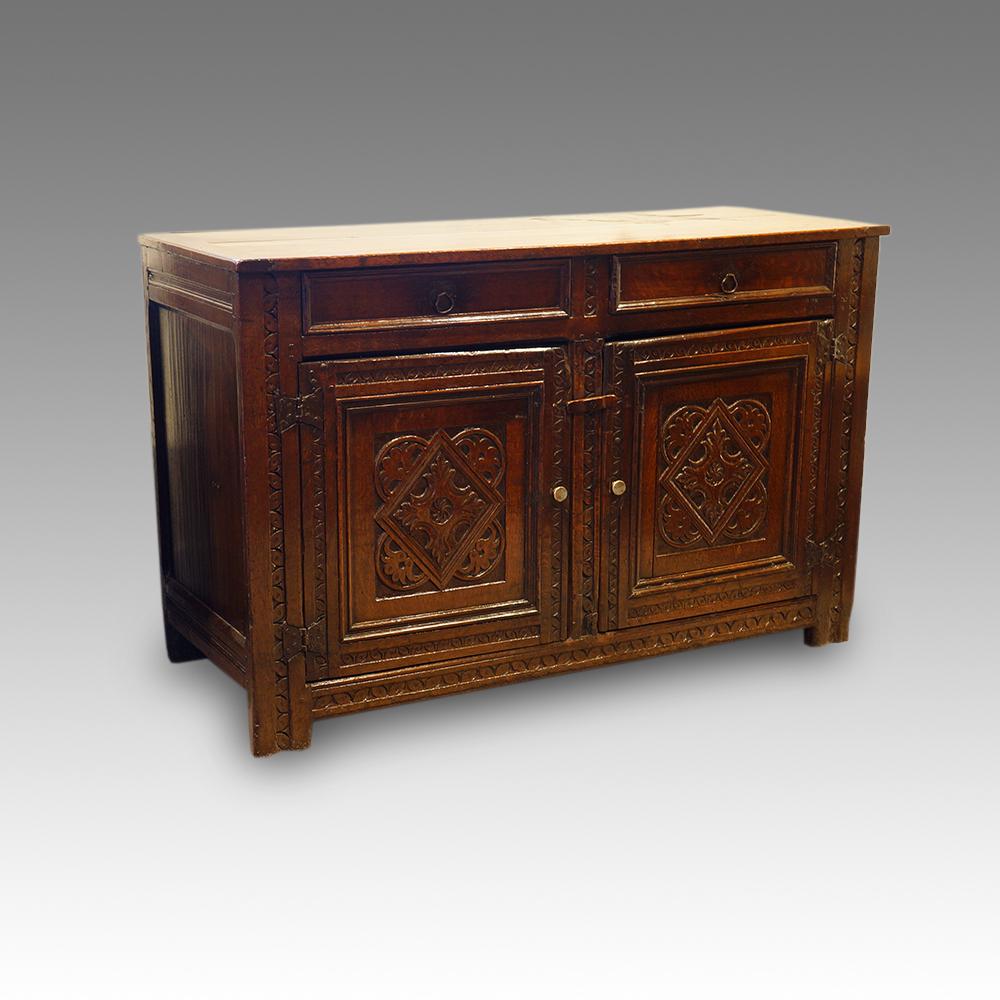 Antique carved oak sideboard Hingstons Antiques Dealers