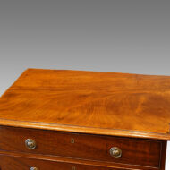 Antique mahogany small chest of drawers top