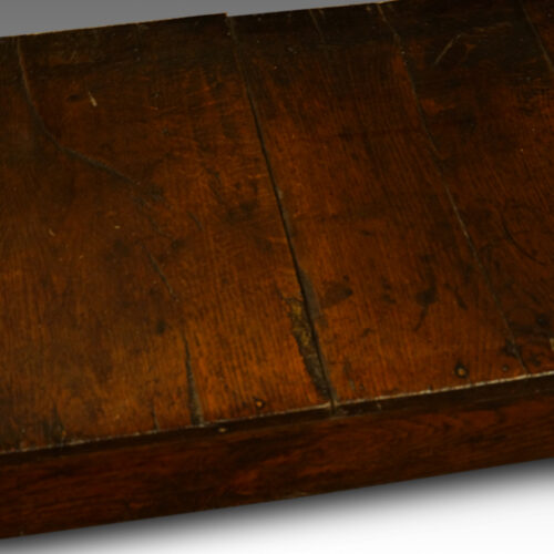 Antique oak narrow potboard dresser base base boards