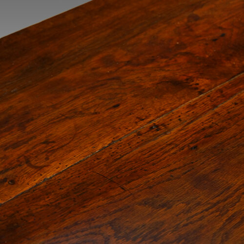 Antique oak narrow potboard dresser base detail