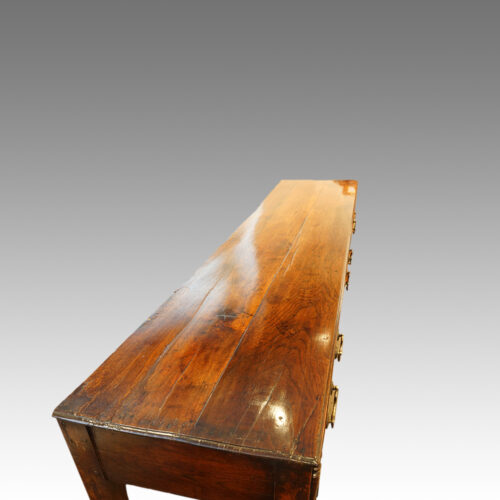 Antique oak narrow potboard dresser base top