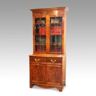 Edwardian mahogany cabinet bookcase