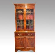 Edwardian mahogany cabinet bookcase front