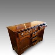 Georgian oak dresser with central drawers, open