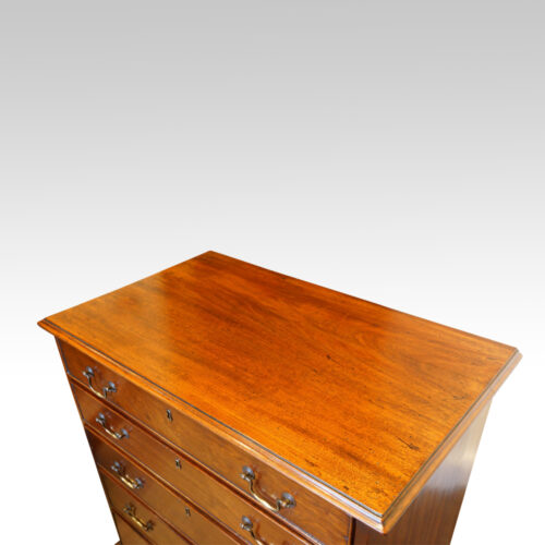 Late Georgian mahogany small chest of drawers top