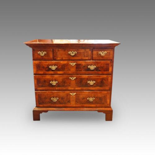 Queen Anne walnut and oak chest