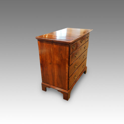 Queen Anne walnut and oak chest side