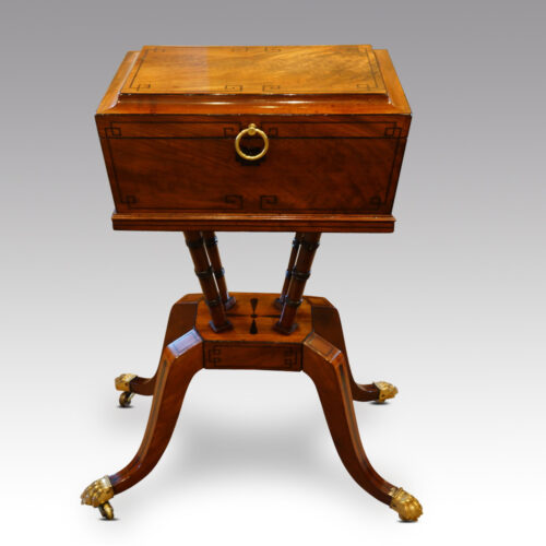 Regency mahogany workbox