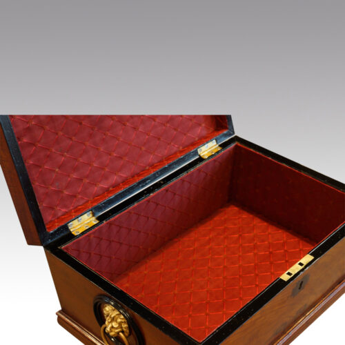 Regency mahogany workbox interior