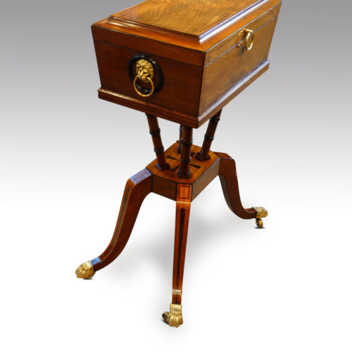 Regency mahogany workbox side