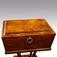 Regency mahogany workbox, top