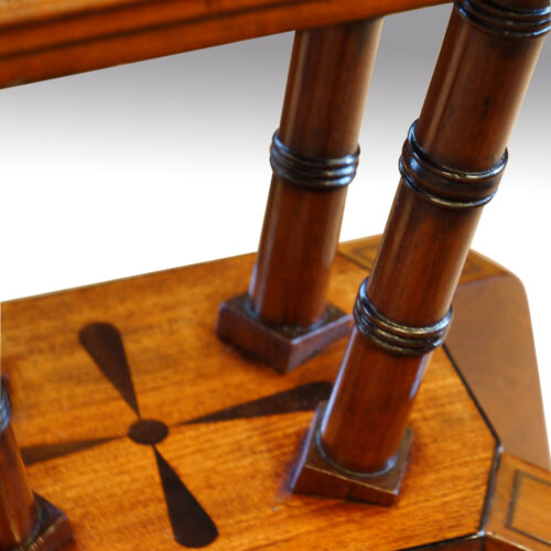 Regency mahogany workbox turnings