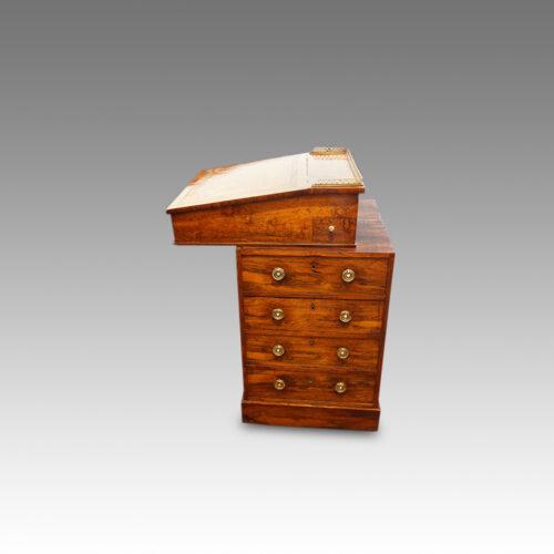 Regency rosewood swivel top Davenport desk,2