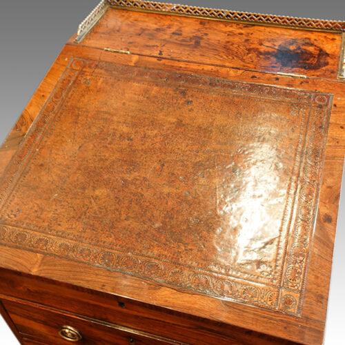 Regency rosewood swivel top Davenport desk,3