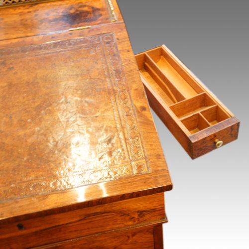 Regency rosewood swivel top Davenport desk,4
