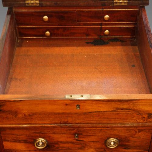 Regency rosewood swivel top Davenport desk,5