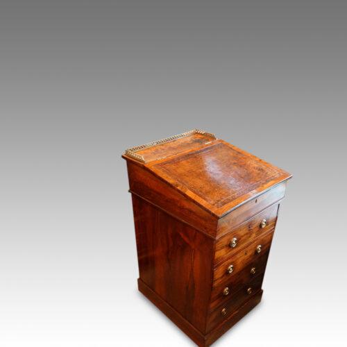 Regency rosewood swivel top Davenport desk,6