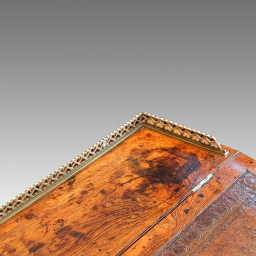 Regency rosewood swivel top Davenport desk