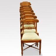 Set of 8 William IV mahogany dining chairs
